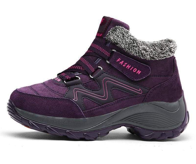 Waterproof Snow Boots - Purple / 5 - Hiking Shoes