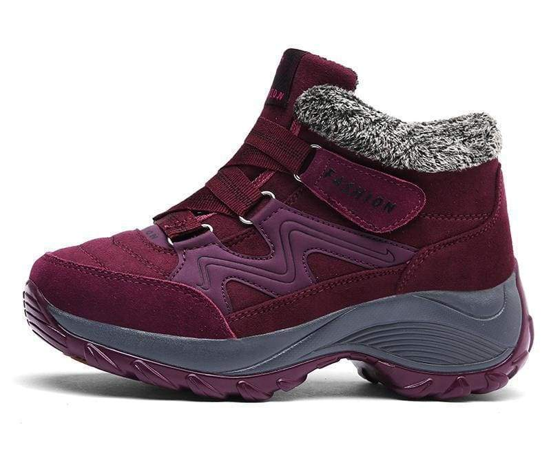Waterproof Snow Boots - Red / 5 - Hiking Shoes