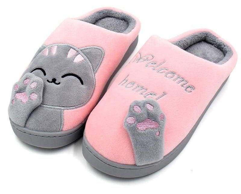 Winter Cartoon Cat Slippers for Home - Slippers