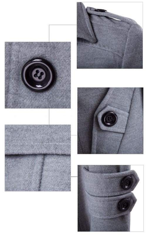 Winter Peacoat Mens Jackets And Coats - Wool & Blends