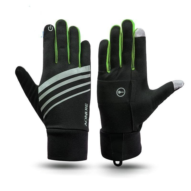 Winter Thermal Gloves - Gray M - Running Gloves