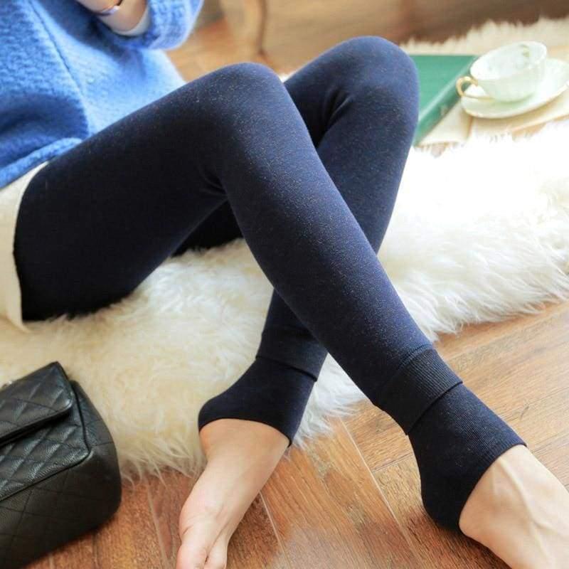 Winter Women Leggings - Navy blue - Leggings