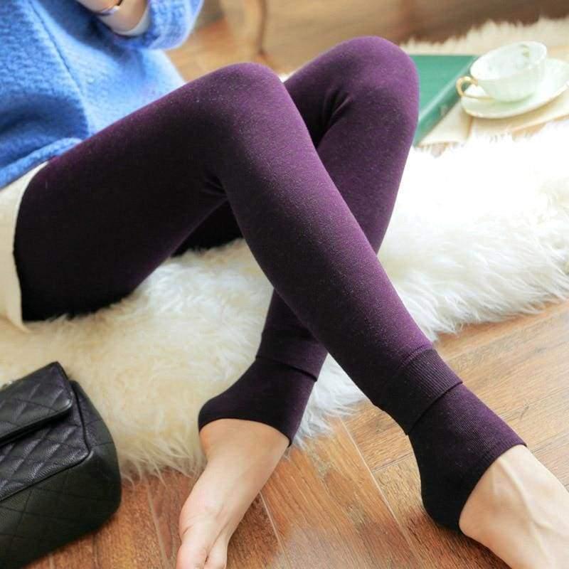Winter Women Leggings - Purple - Leggings