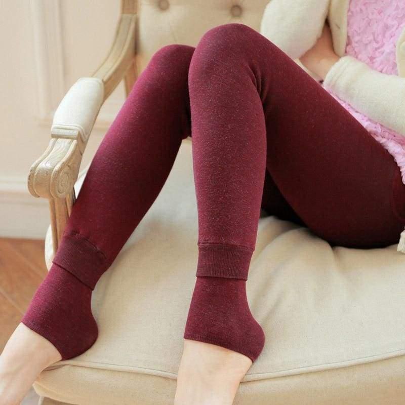 Winter Women Leggings - Wine red - Leggings