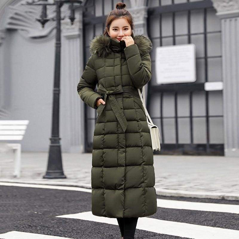 Women Winter Jacket Fashion Slim Just For You - Army green / M - Women Winter Jacket