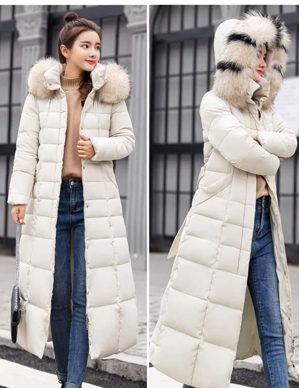 Women Winter Jacket Fashion Slim Just For You - Beige / L - Women Winter Jacket