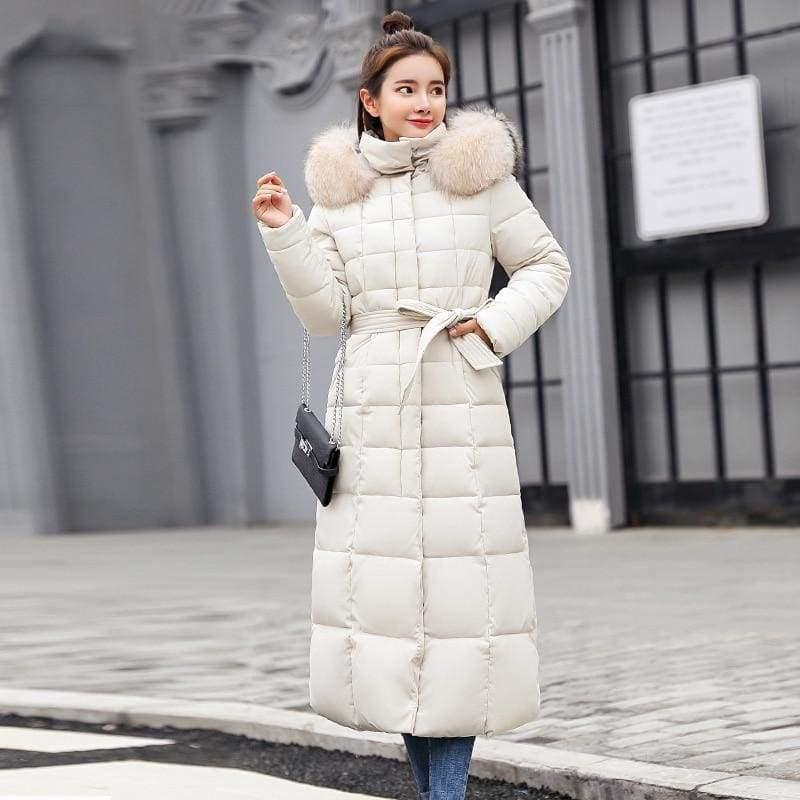 Women Winter Jacket Fashion Slim Just For You - Beige / M - Women Winter Jacket