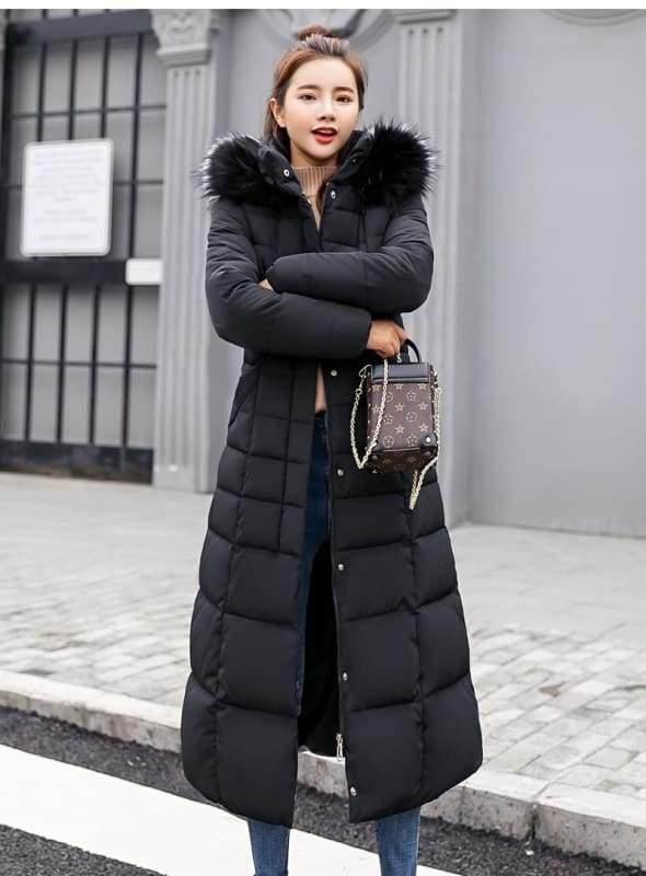 Women Winter Jacket Fashion Slim Just For You - Black / L - Women Winter Jacket