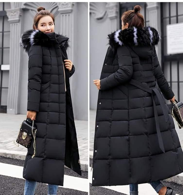 Women Winter Jacket Fashion Slim Just For You - Black / XL - Women Winter Jacket