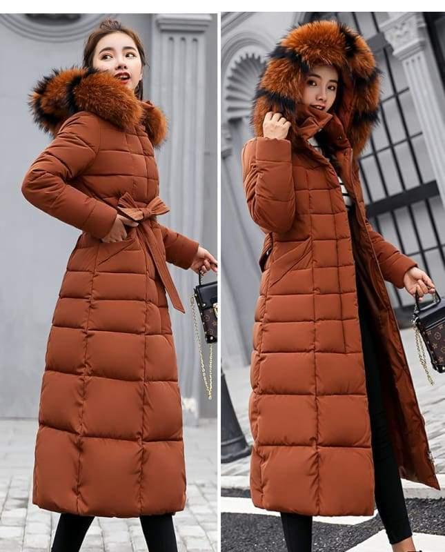 Women Winter Jacket Fashion Slim Just For You - Caramel / L - Women Winter Jacket