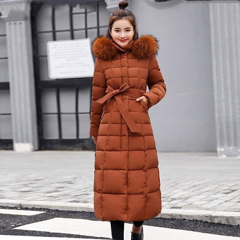 Women Winter Jacket Fashion Slim Just For You - Caramel / M - Women Winter Jacket