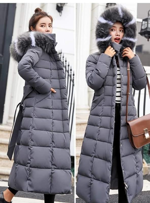 Women Winter Jacket Fashion Slim Just For You - Gray / L - Women Winter Jacket