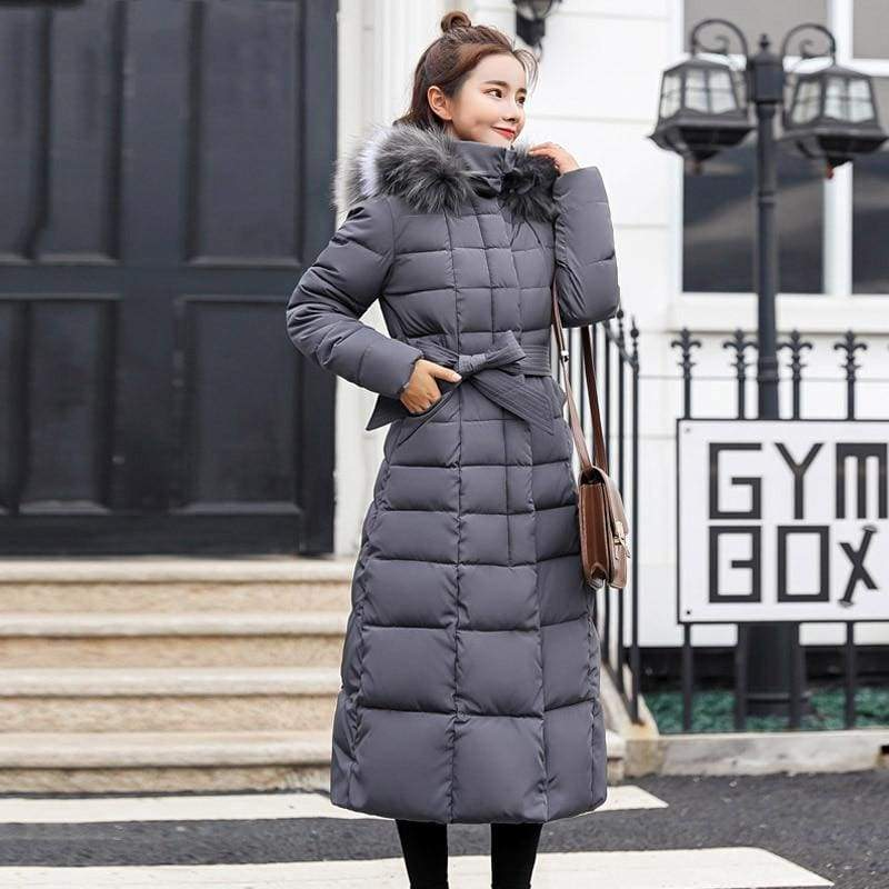 Women Winter Jacket Fashion Slim Just For You - Gray / M - Women Winter Jacket