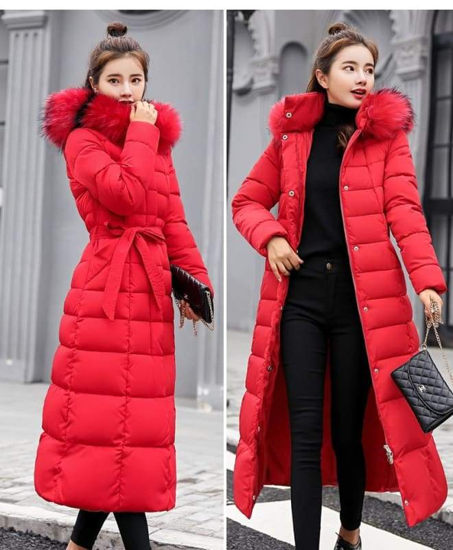 Women Winter Jacket Fashion Slim Just For You - Red / L - Women Winter Jacket