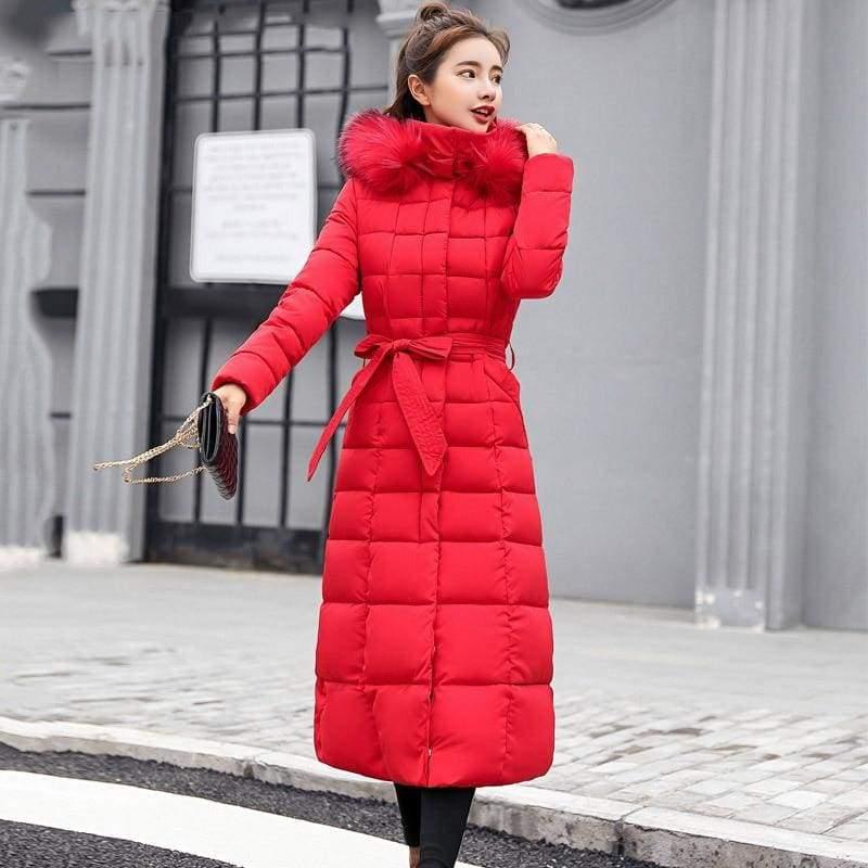 Women Winter Jacket Fashion Slim Just For You - Red / M - Women Winter Jacket