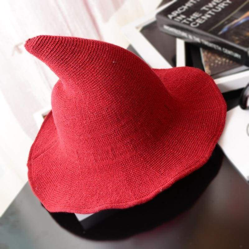 Wool Pointy Witch Hat - Red - Party Hats