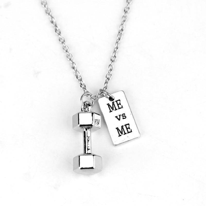 Dumbbell Necklace Pendant - 1 - Pendant Necklaces