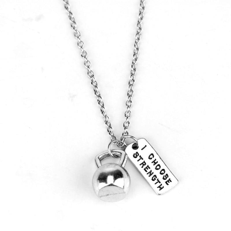 Dumbbell Necklace Pendant - 2 - Pendant Necklaces