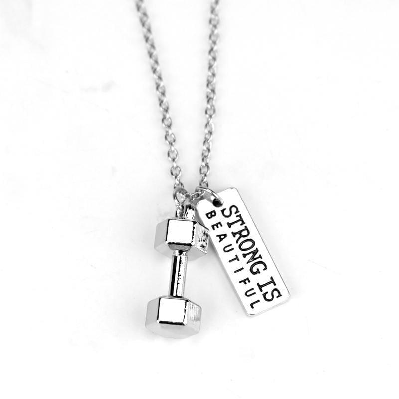 Dumbbell Necklace Pendant - 5 - Pendant Necklaces