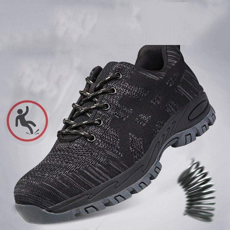 Work Safety Boot Shoes with Steel Toe - black / 37 - Safety Shoes