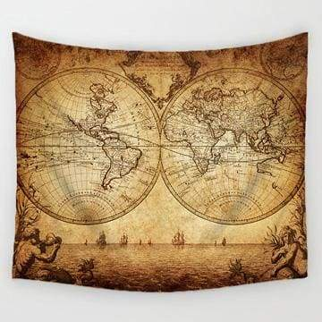 World Map Tapestry - 4 / 150x130cm - Tapestry