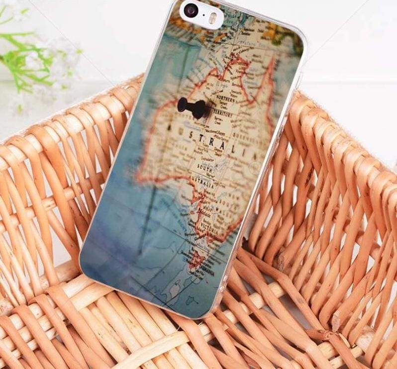 World Map Travel Plans iphone case - 9 / For iPhone 8 - Half-wrapped Case