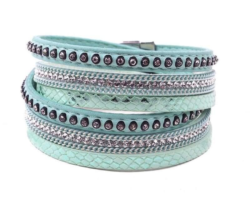 Wrap Leather Bracelet - green - Wrap Bracelets