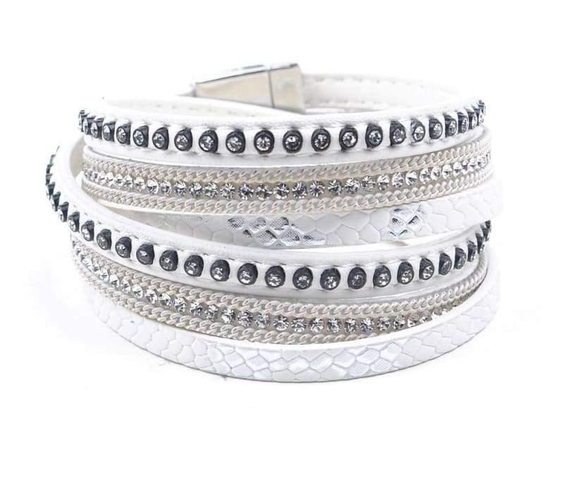 Wrap Leather Bracelet - white - Wrap Bracelets