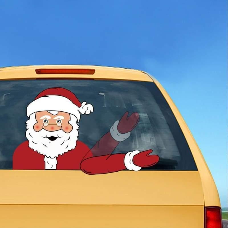 Xmas Santa Claus Car Waving - Christmas Decoration