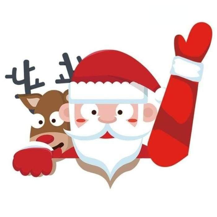 Xmas Santa Claus Car Waving - Red - Christmas Decoration
