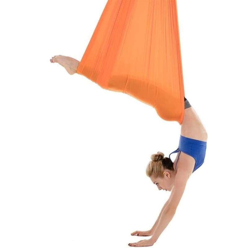 Yoga Hammock Aerial Flying Swing - Orange - Gym Fitness