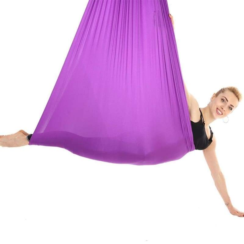 Yoga Hammock Aerial Flying Swing - plum - Gym Fitness