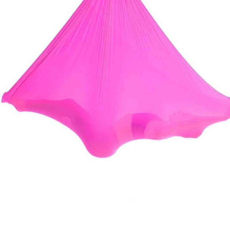 Yoga Hammock Aerial Flying Swing - rose red - Gym Fitness