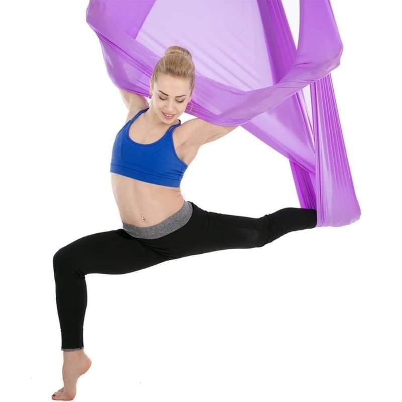 Yoga Hammock Aerial Flying Swing - violet - Gym Fitness