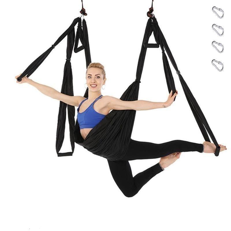 Yoga Hammock Anti-gravity Swing Parachute - Dark blue - Gym Fitness