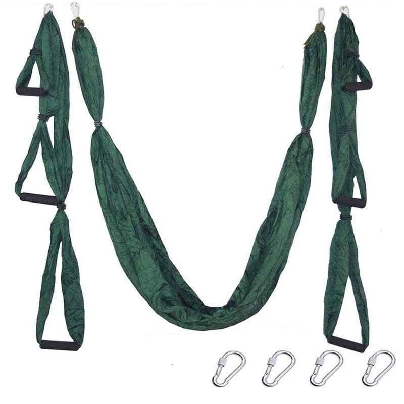 Yoga Hammock Anti-gravity Swing Parachute - Dark green - Gym Fitness
