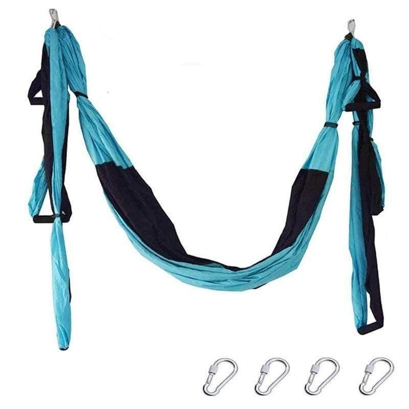 Yoga Hammock Anti-gravity Swing Parachute - D L blue - Gym Fitness