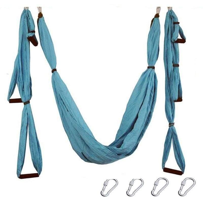 Yoga Hammock Anti-gravity Swing Parachute - Light blue - Gym Fitness