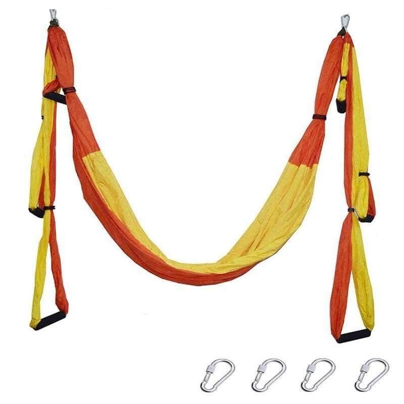 Yoga Hammock Anti-gravity Swing Parachute - orange yellow - Gym Fitness
