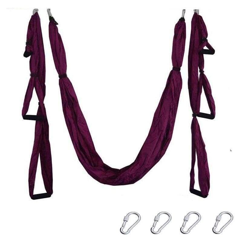 Yoga Hammock Anti-gravity Swing Parachute - Purple - Gym Fitness