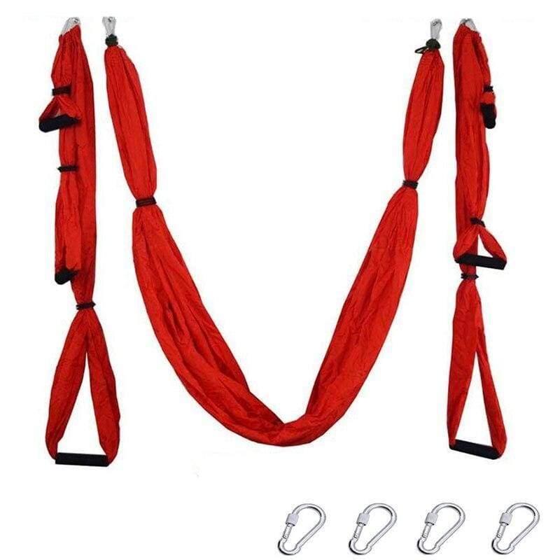 Yoga Hammock Anti-gravity Swing Parachute - Red - Gym Fitness