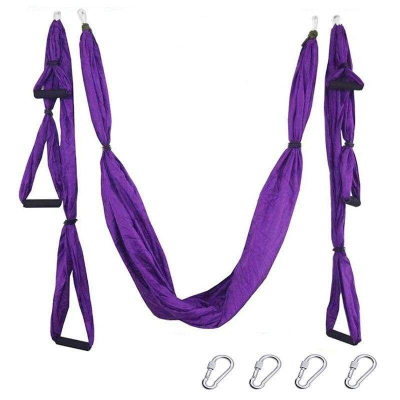 Yoga Hammock Anti-gravity Swing Parachute - violet - Gym Fitness