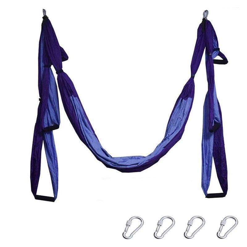 Yoga Hammock Anti-gravity Swing Parachute - Violet purple - Gym Fitness