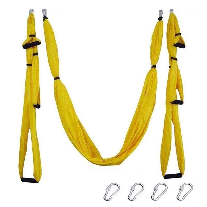 Yoga Hammock Anti-gravity Swing Parachute - Yellow - Gym Fitness