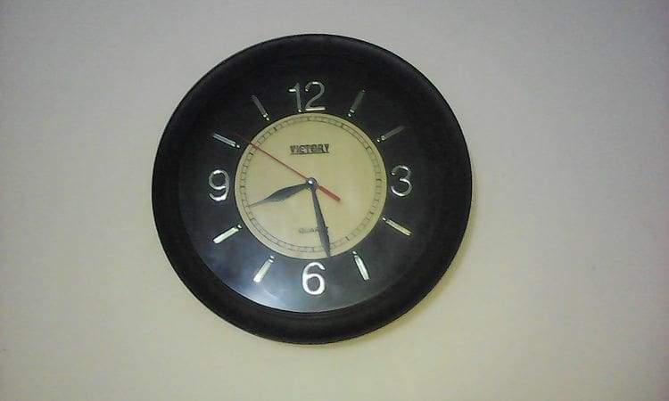 A quartz clock