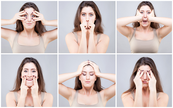 facial exercises to make you look slimmer