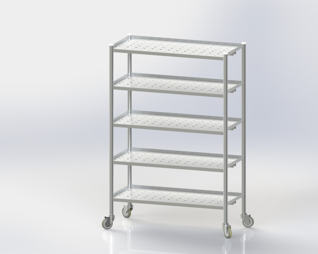 5 Storage Rack/Perforated/Mobile