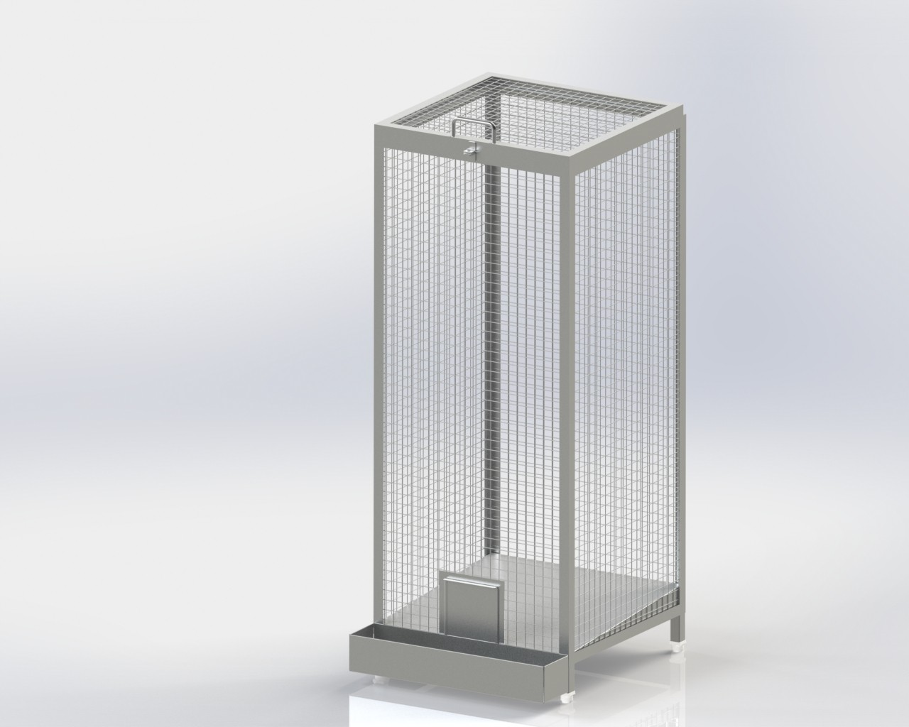Single Chamber Wire Mesh Storage Bin Fi-Fo Type