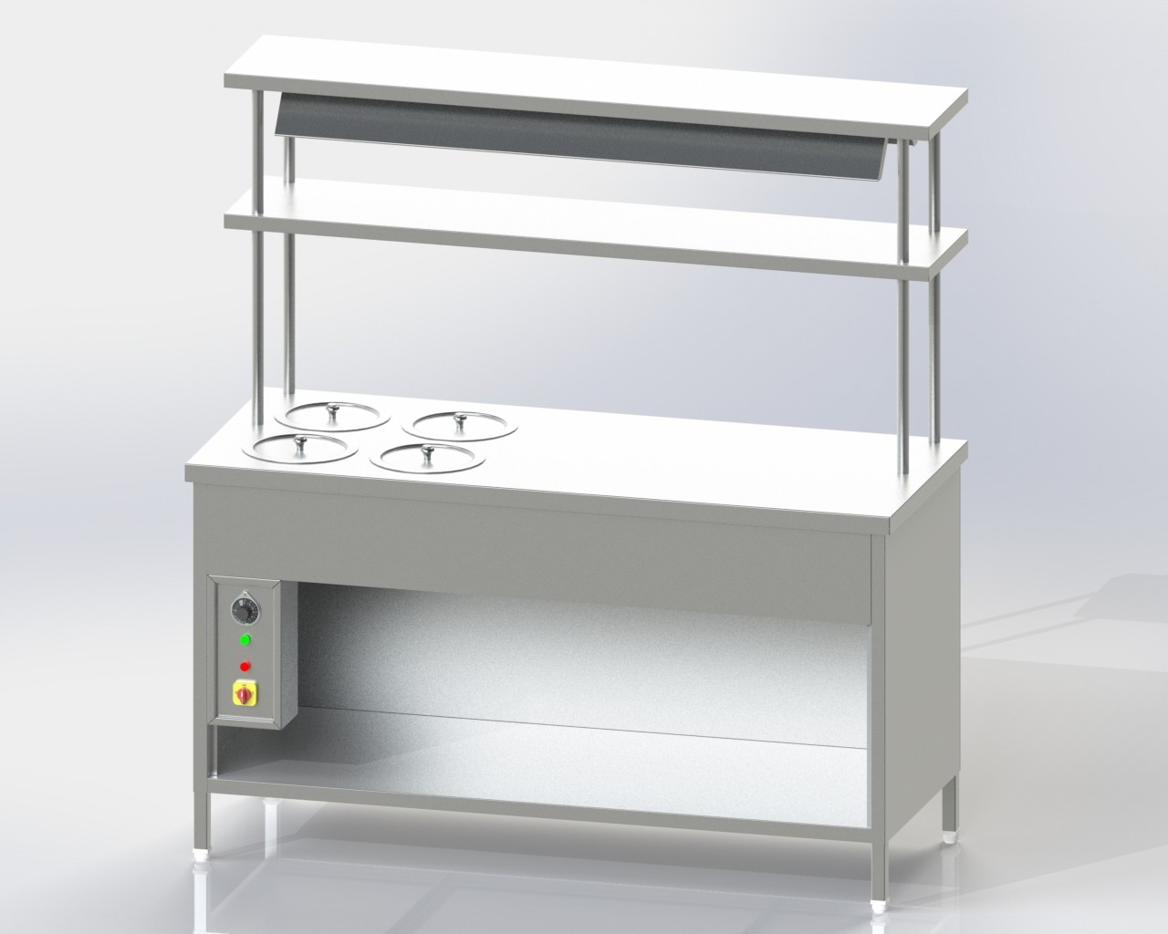 Pick up Counter 4 Round Vessel Bain Marie u-s and 2 o-s