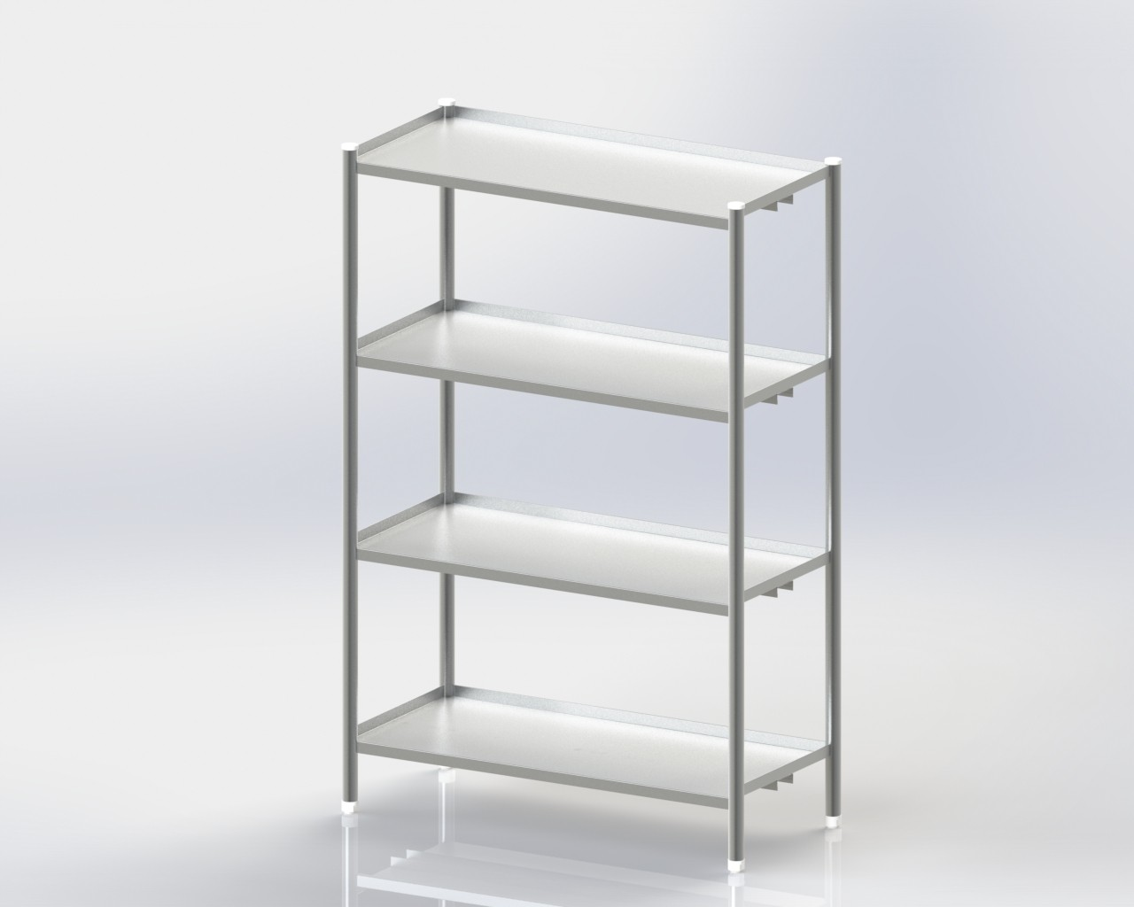 4 Storage Shelves / Standard / Mobile